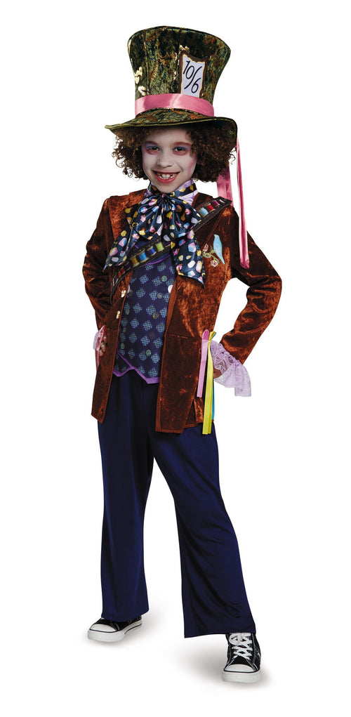 Disguise Costumes Boys Mad Hatter Deluxe Costume