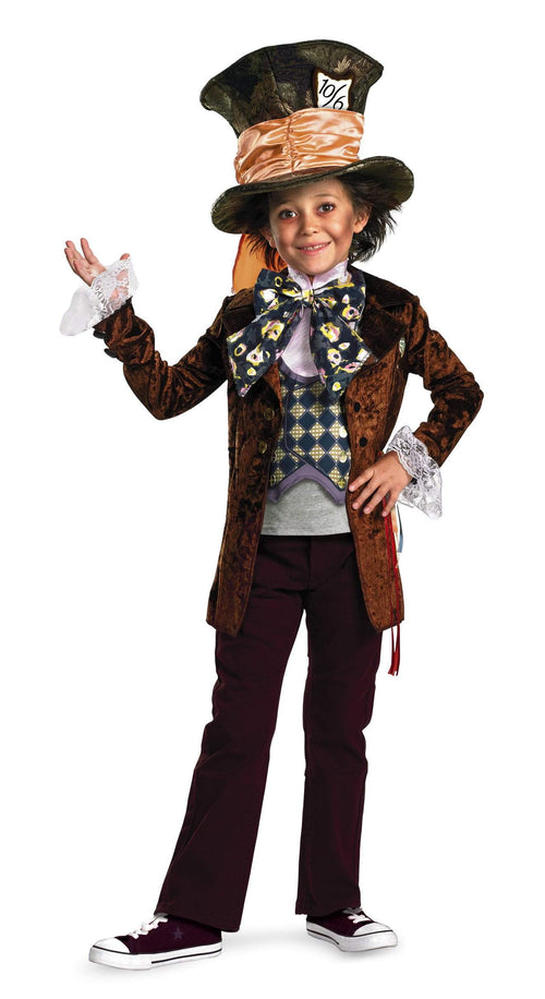 Disguise Costumes Boys Mad Hatter Movie Deluxe Costume - Alice in Wonderland