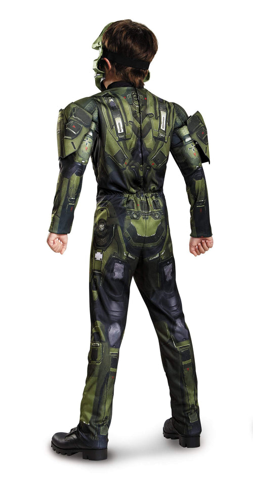 Disguise Costumes Boys Master Chief Classic Muscle Costume - Halo