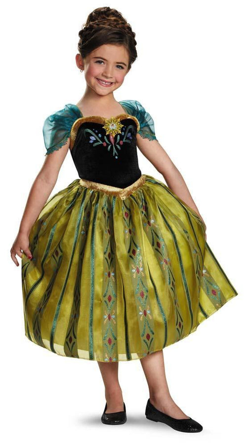 Disguise Costumes Girls Anna Coronation Gown Deluxe Costume   Frozen
