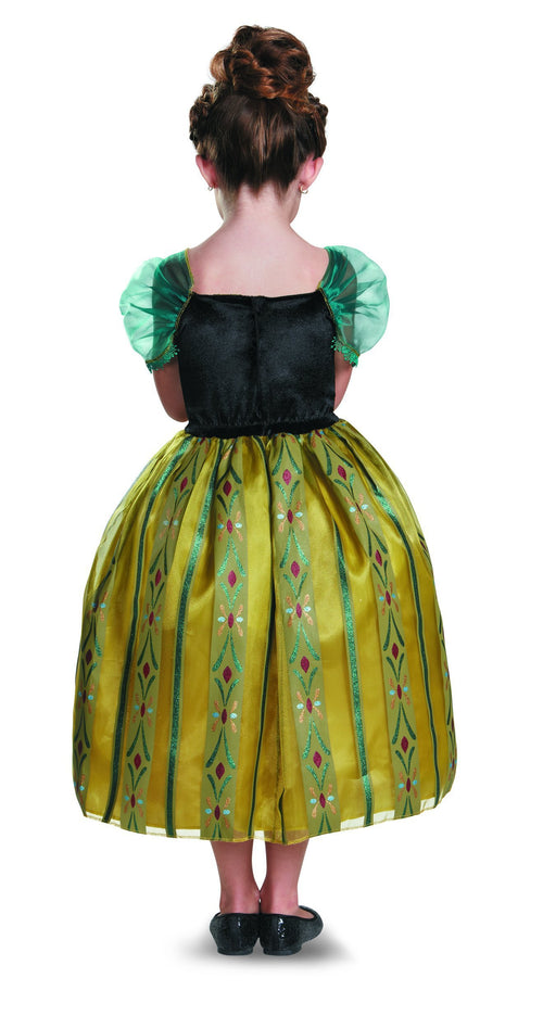 Disguise Costumes Girls Anna Coronation Gown Deluxe Costume - Frozen
