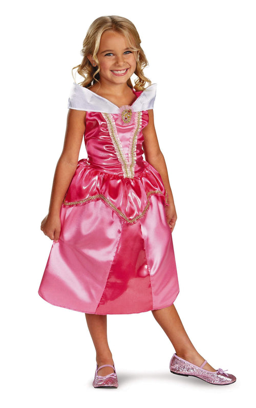 Disguise Costumes Girls Aurora Sparkle Classic Costume -Sleeping Beauty