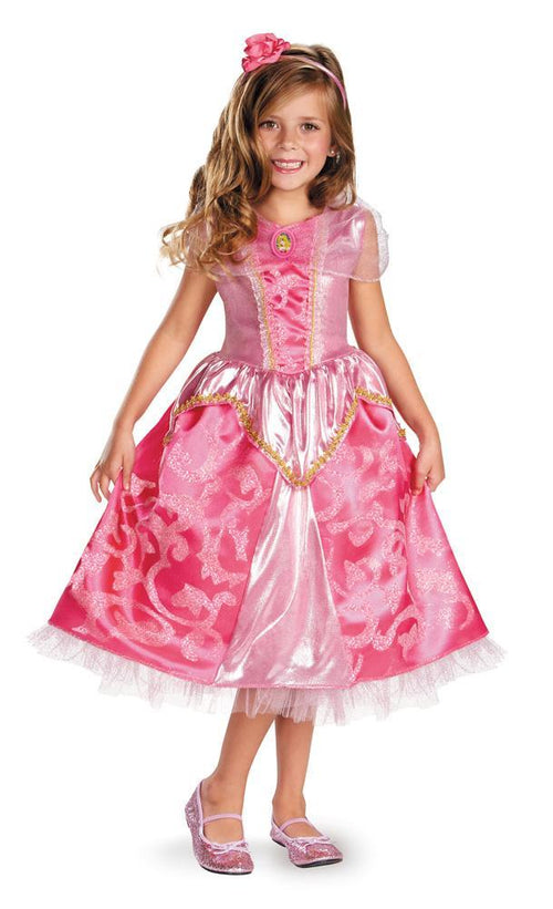 Disguise Costumes Girls Aurora Sparkle Deluxe Costume - Sleeping Beauty