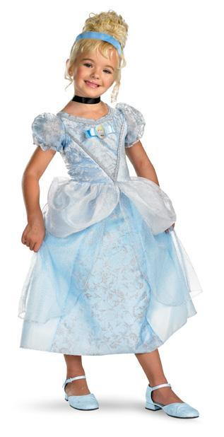 Disguise Costumes Girls Cinderella Deluxe Costume