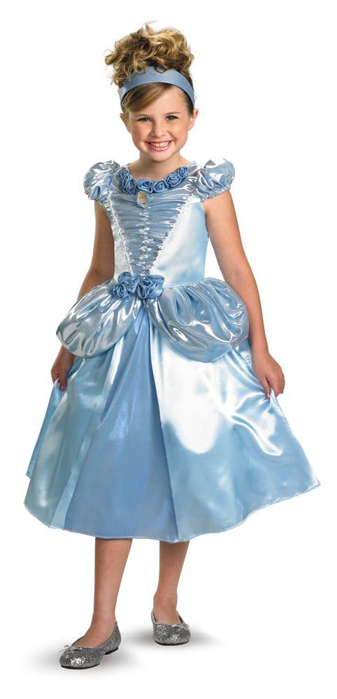 Disguise Costumes Girls Cinderella Shimmer Deluxe Costume