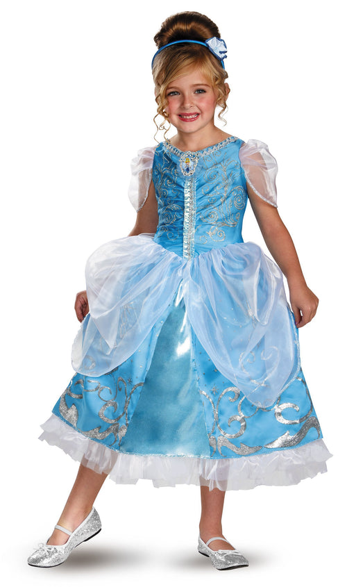 Disguise Costumes Girls Cinderella Sparkle Deluxe Costume