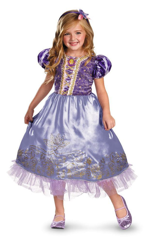 Disguise Costumes Girls Rapunzel Sparkle Deluxe Costume - Tangled