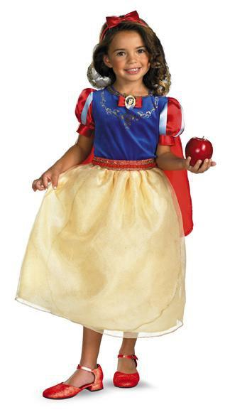 Disguise Costumes Girls Snow White Deluxe Costume