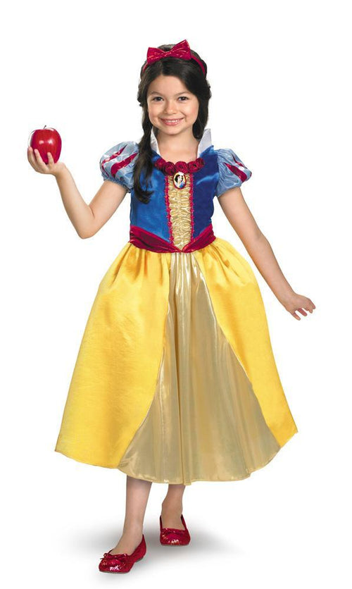 Disguise Costumes Girls Snow White Shimmer Deluxe Costume