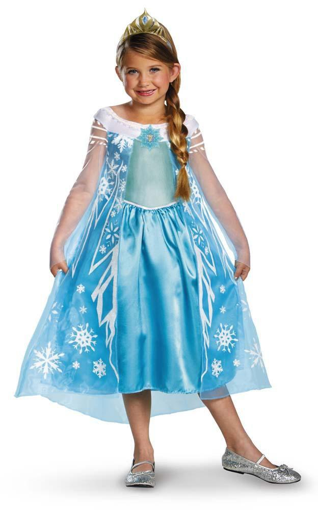 Disguise Costumes LARGE 10-12 Girls Elsa Costume - Frozen