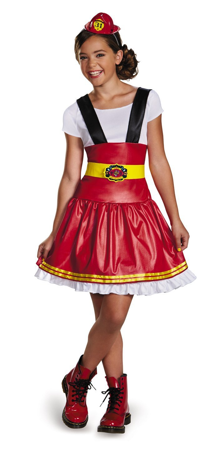 Disguise Costumes LARGE 10-12 Teen Girls Fire Girl Costume