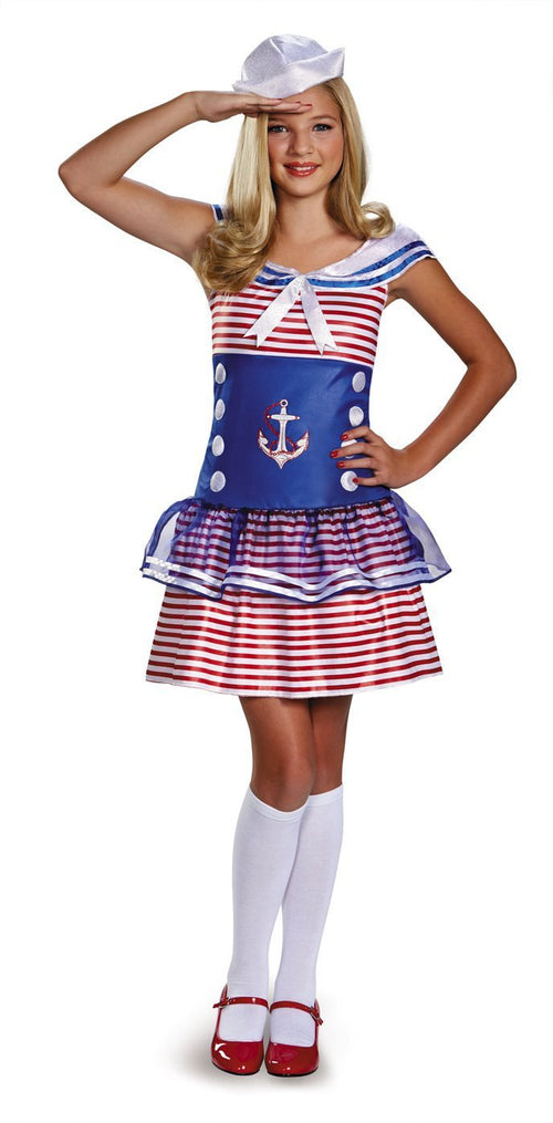 Disguise Costumes LARGE 10-12 Teen Sailing Sweetheart Costume