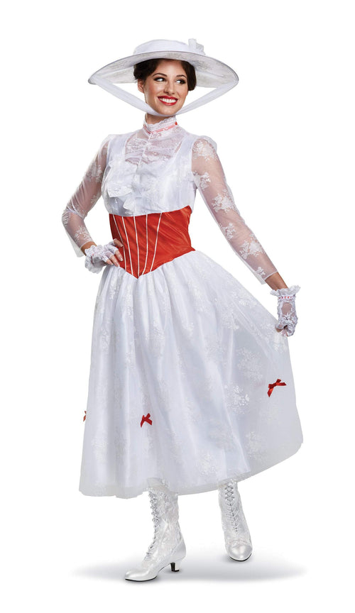 Disguise Costumes LARGE (12-14) Adult Mary Poppins Deluxe Costume - Disney