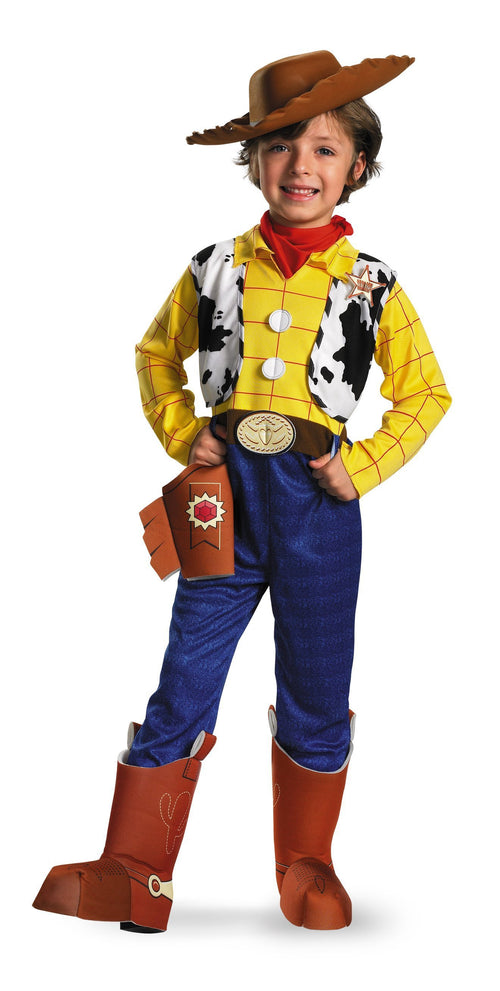 Disguise Costumes M 7-8 Boys Deluxe Woody Costume - Toy Story