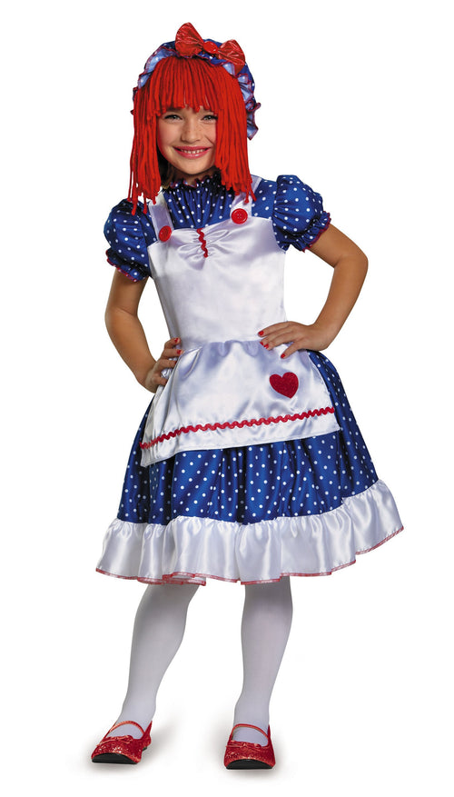 Disguise Costumes M (7-8) Girls Raggedy Ann Doll Costume