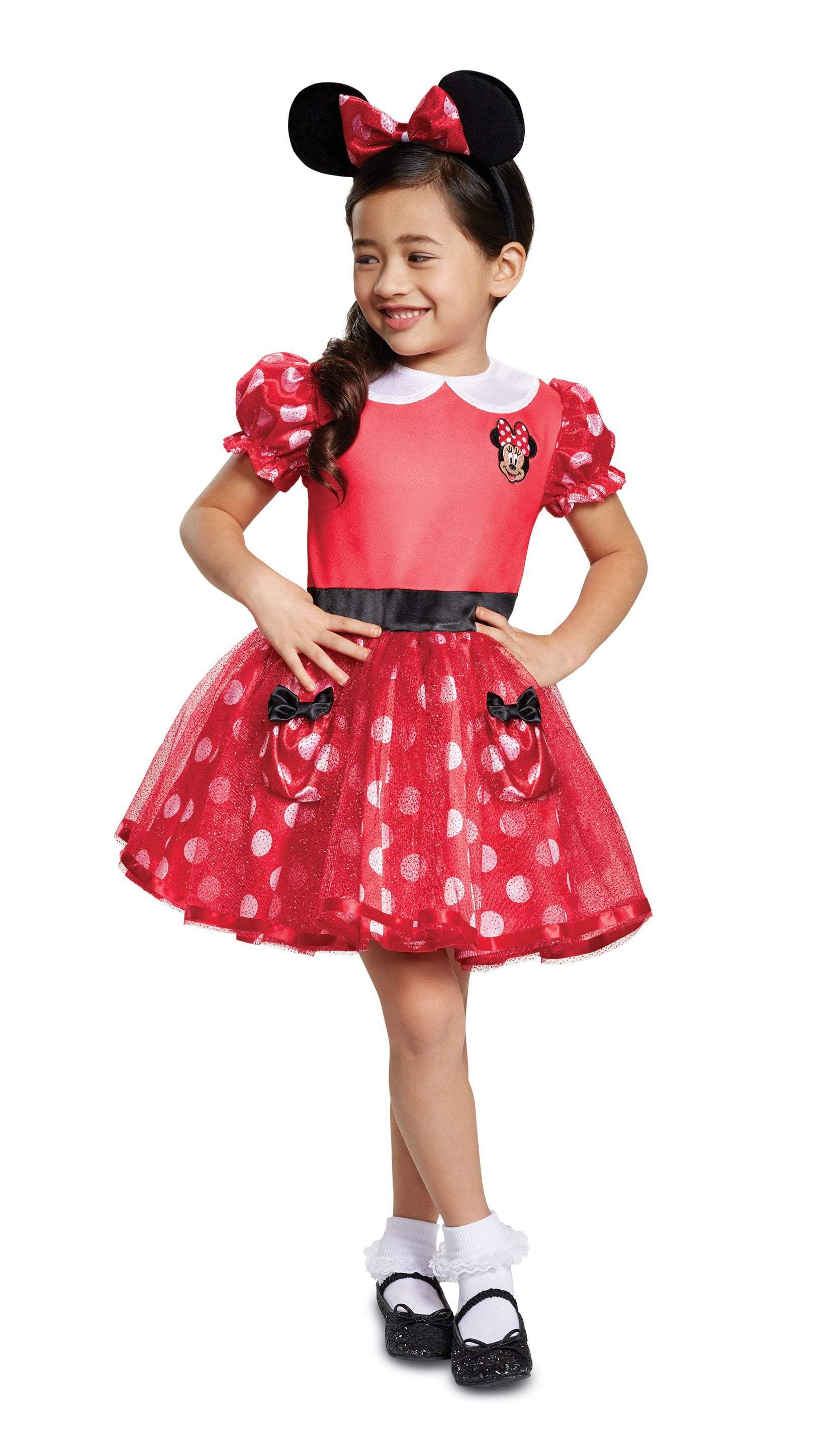 Disguise Costumes MEDIUM - 3T-4T Toddler Girls Minnie Mouse Costume