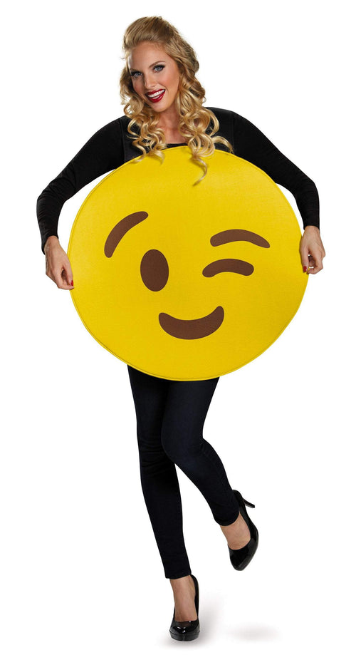 Disguise Costumes Wink Emoji Costume