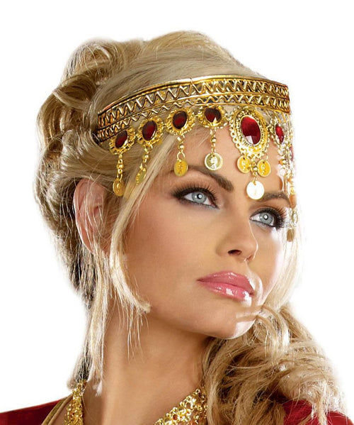 Dreamgirl Costume Accessories Gold Headpiece with Rubies