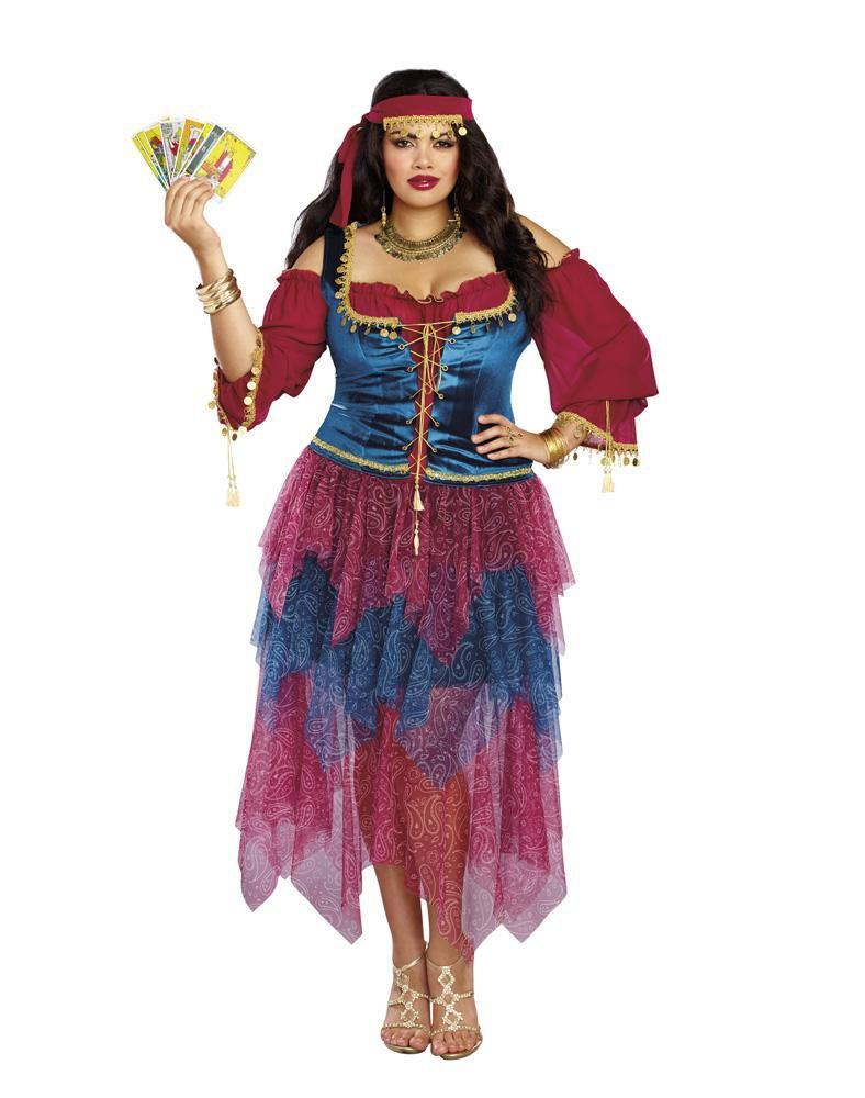 Dreamgirl Costumes 1X Plus Size Womens Alluring Gypsy Costume
