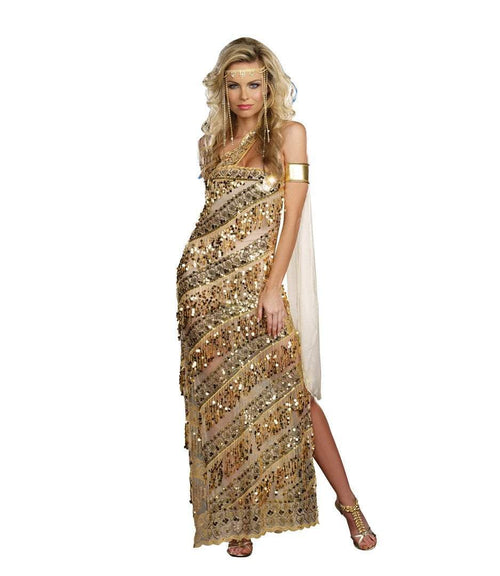 Dreamgirl Costumes Adult Golden Goddess Costume
