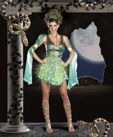 Dreamgirl Costumes Adult Mythical Medusa Costume