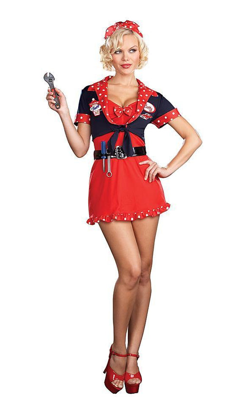 Dreamgirl Costumes Betty's Full Service Mechanic Costume