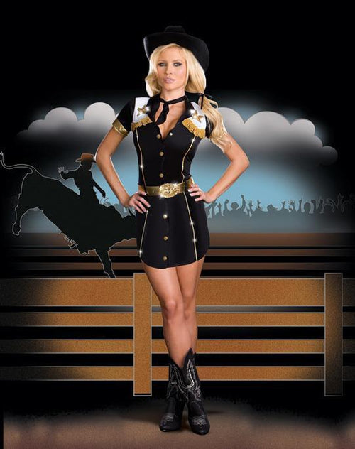 Dreamgirl Costumes COLOR / LARGE Rodeo Gal Costume