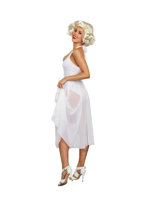 Dreamgirl Costumes Dreamgirl Women's Blonde Bombshell Vintage Movie Star Costume Dress