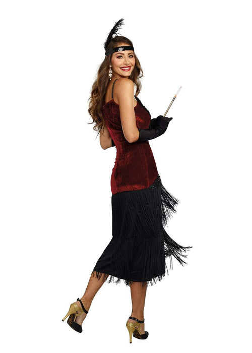Dreamgirl Costumes Dreamgirl Women's Luxe Million Dollar Baby Flapper Costume Dress