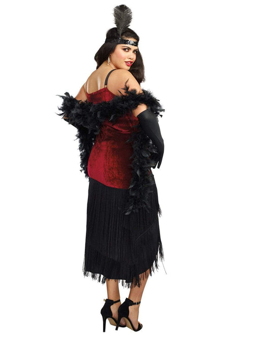 Dreamgirl costumes Dreamgirl Women's Luxe Plus-Size Million Dollar Baby Flapper Costume Dress