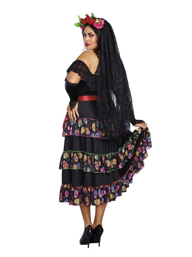 Dreamgirl Costumes Lady of the Dead Plus Costume - Day of the Dead