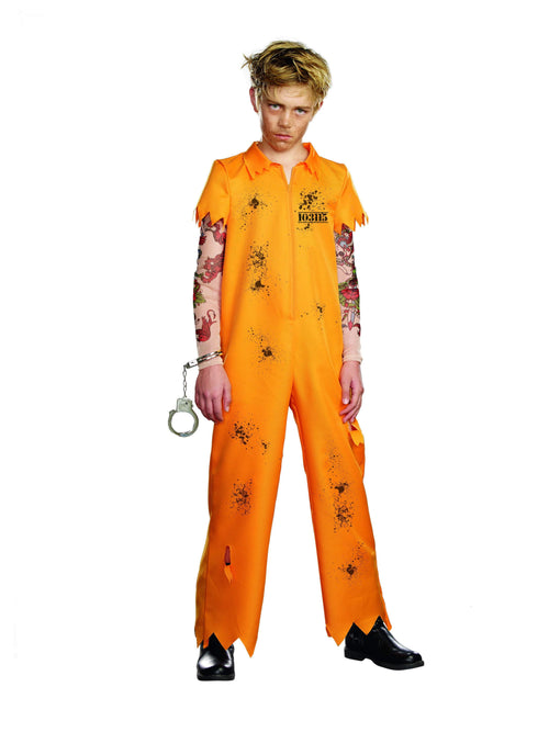 Dreamgirl Costumes LARGE Boys Escape Convict Costume