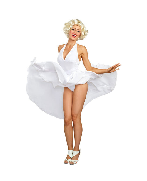 Dreamgirl Costumes LARGE Dreamgirl Women's Blonde Bombshell Vintage Movie Star Costume Dress