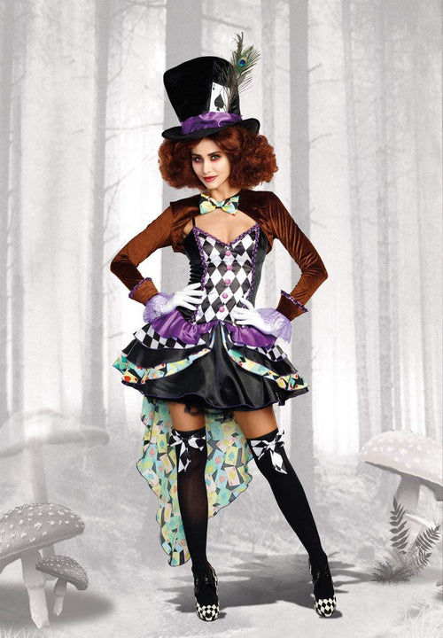 Dreamgirl Costumes LARGE Hatter Madness Costume