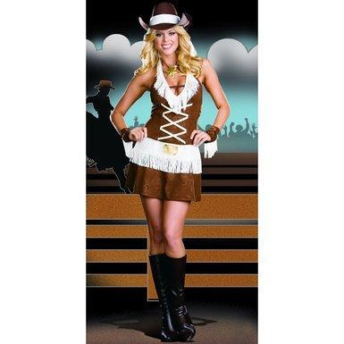 Dreamgirl Costumes LARGE Howdy Partner Cowgirl Costume
