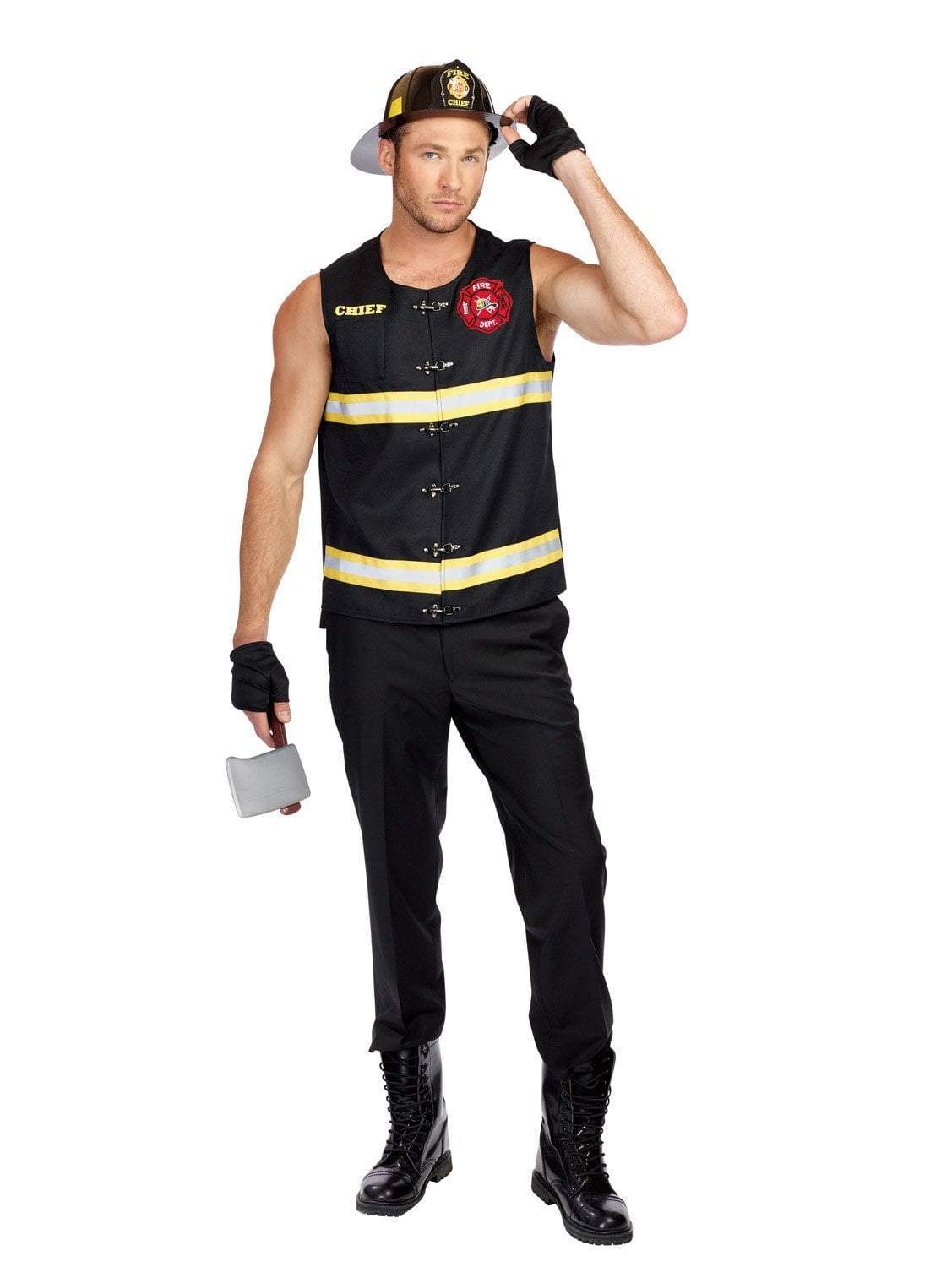 Dreamgirl Costumes LARGE Mens Fire Away Firefighter Costume