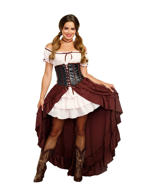 Dreamgirl Costumes LARGE Saloon Gal Costume