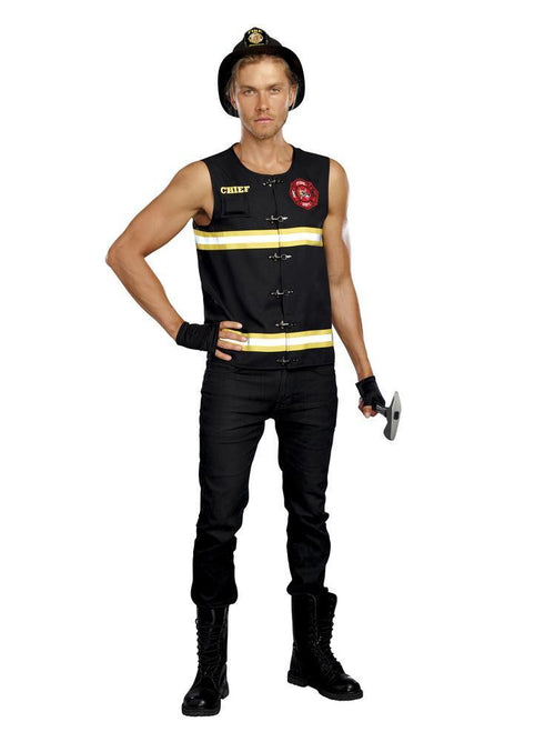 Dreamgirl Costumes Mens Fire Away Firefighter Costume