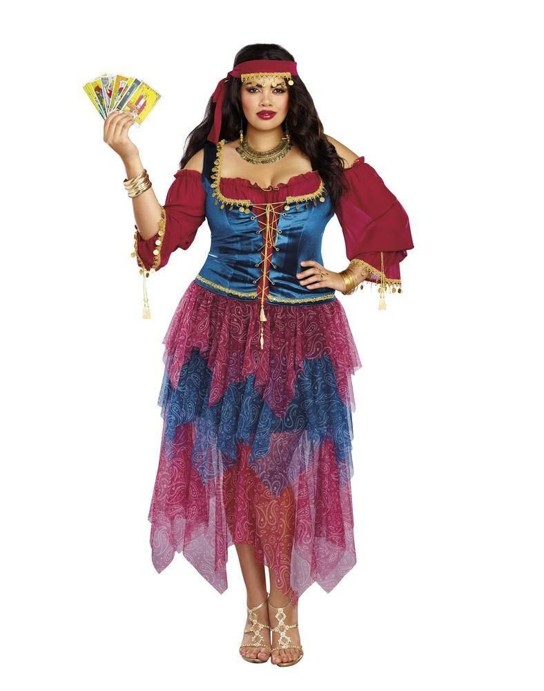 Dreamgirl Costumes Plus Size Womens Alluring Gypsy Costume