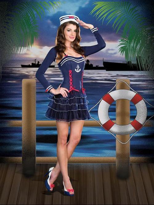 Dreamgirl Costumes Surf City Sweetie Sailor Costume