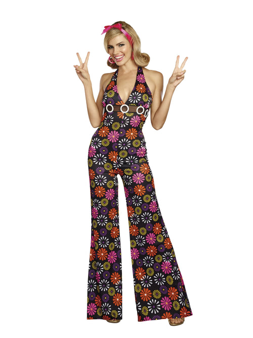 Dreamgirl Costumes Womens Groovy Baby! 60s Costume