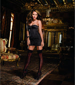 Dreamgirl Lingerie BLACK / 32 The Madame Corset Dress Set