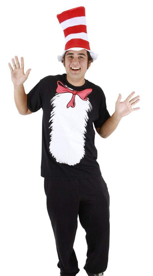 Elope Dr. Seuss Adult Cat in the Hat T-Shirt Kit with Hat (Small) - Dr. Seuss