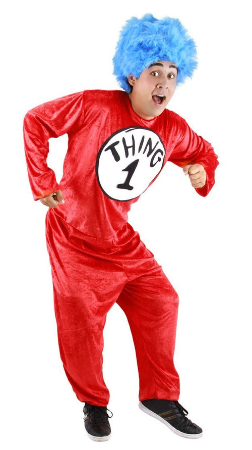 Elope Dr. Seuss Adult Dr. Seuss Thing 1 & 2 Costume (Large/XL)