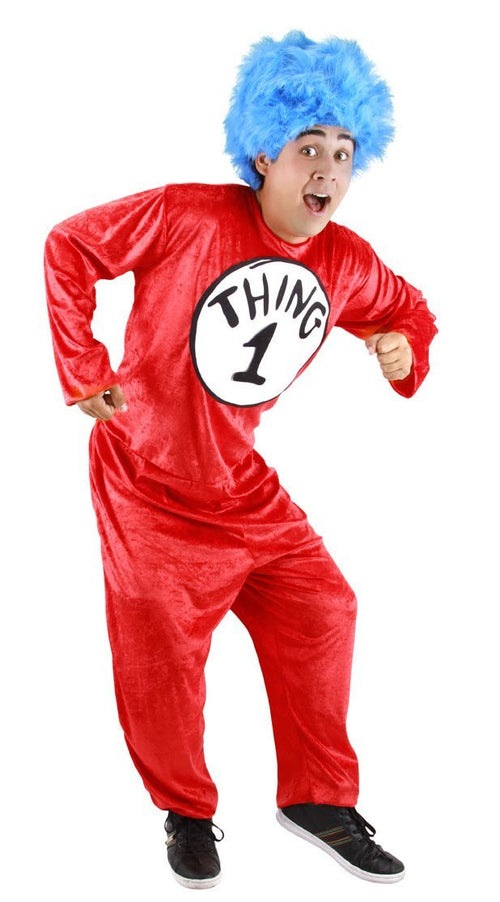Elope Dr. Seuss Adult Dr. Seuss Thing 1 & 2 Costume (Small/Medium)