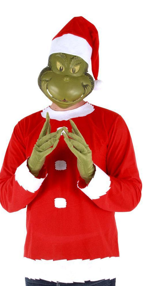 Elope Dr. Seuss Adult Grinch Costume (L/XLarge) - Dr. Seuss Christmas