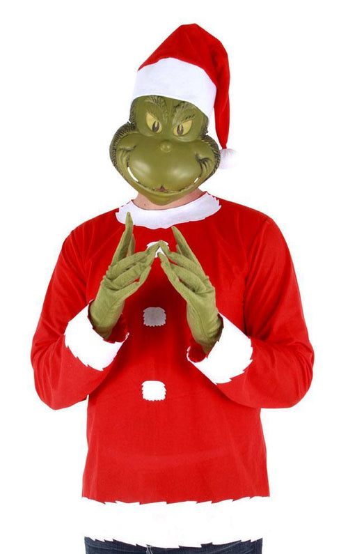 Elope Dr. Seuss Adult Grinch Costume (Small/Med) - Dr. Seuss Christmas