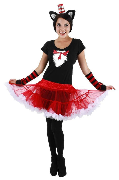 Elope Dr. Seuss Cat in the Hat Adult Tutu Costume (Large/X-Large) - Dr. Seuss