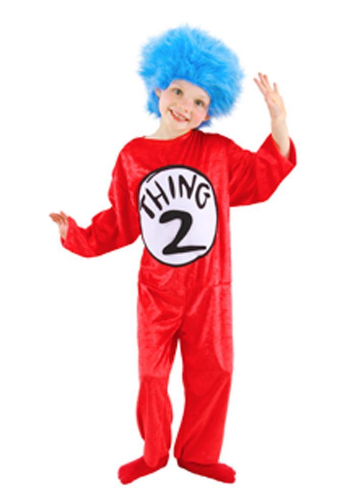 Elope Dr. Seuss Childs Dr. Seuss Thing 1 & Thing 2 Costume (4-6) - Cat in the Hat