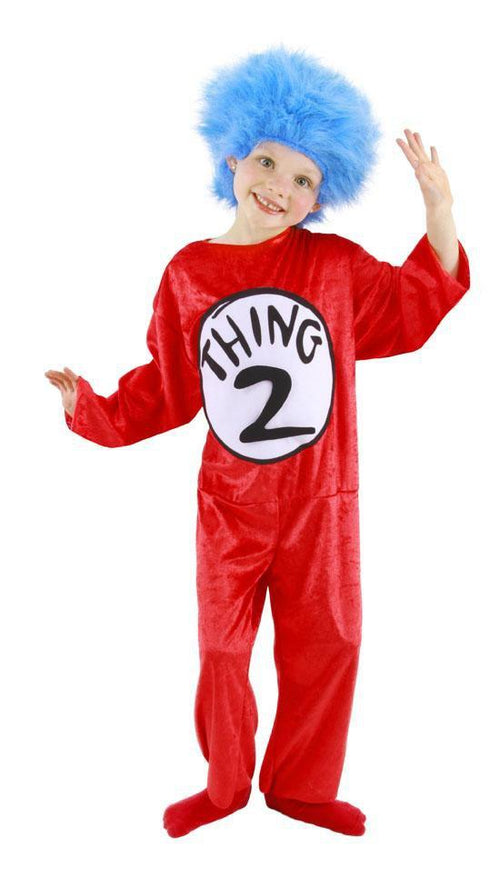Elope Dr. Seuss Childs Thing 1 & Thing 2 Costume (2T-4T) - Dr. Seuss Cat in the Hat